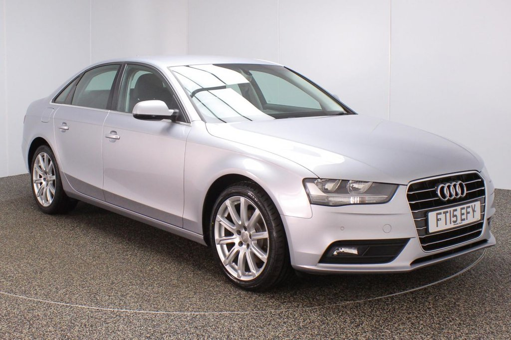 USED 2015 15 AUDI A4 2.0 TDI SE TECHNIK 4DR 148 BHP SERVICE HISTORY + LEATHER SEATS + SATELLITE NAVIGATION + PARKING SENSOR + BLUETOOTH + CRUISE CONTROL + CLIMATE CONTROL + MULTI FUNCTION WHEEL + ELECTRIC WINDOWS + ELECTRIC HEATED DOOR MIRRORS + 18 INCH ALLOY WHEELS