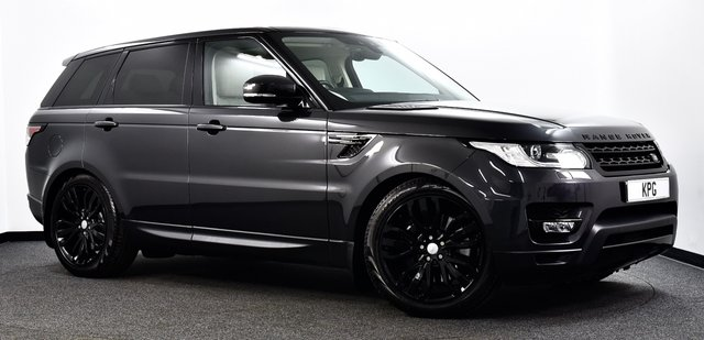 """USED 2017 17 LAND ROVER RANGE ROVER SPORT 3.0 SD V6 HSE CommandShift 2 4X4 (s/s) 5dr Pan Roof, Black Pack, 21""""s ++"""