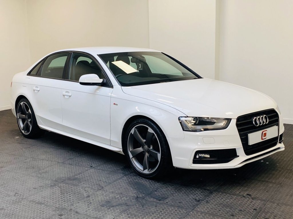 USED 2012 62 AUDI A4 2.0 TDI BLACK EDITION 4d 141 BHP 1 OWNER + ONLY 37,000 MILES + HALF LEATHER + 19 INCH ROTOR ALLOYS