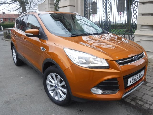 USED 2015 65 FORD KUGA 2.0 TITANIUM TDCI 5d 148 BHP FINANCE ARRANGED**PART EXCHANGE WELCOME**SERVICE HISTORY**6 SPEED**PART LEATHER**CRUISE**HEATED WSCREEN**BLUETOOTH**DAB**CD**AUX**USB
