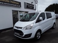 USED 2017 66 FORD TRANSIT CUSTOM 2.0 310 LIMITED LR CREW VAN 130 BHP