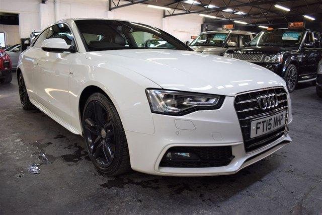 USED 2015 15 AUDI A5 2.0 TDI S LINE 3d 187 BHP LOVELY CONDITION THROUGHOUT - BEST COLOUR - S LINE - S/H - DOUBLE SPOKE BLACK ALLOYS - FULL LEATHER - NAV - HEATED SEATS