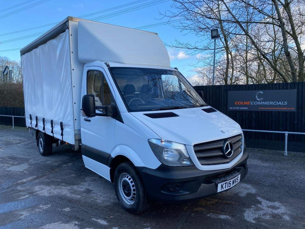 USED 2015 15 MERCEDES-BENZ SPRINTER 2.1CDI 313 Curtainside (130 PS)(LWB) **BRAND NEW CURTAINS**