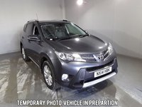 USED 2014 14 TOYOTA RAV4 2.2 D-4D INVINCIBLE 5d 150 BHP Finished in stunning metallic Decuma Grey + Alloys + black leather interior + Air con + Dual climate control + Multi function steering wheel + Cruise control + Electric mirrors + Electric windows + Electric Sunroof + Heated seats, Parking sensors