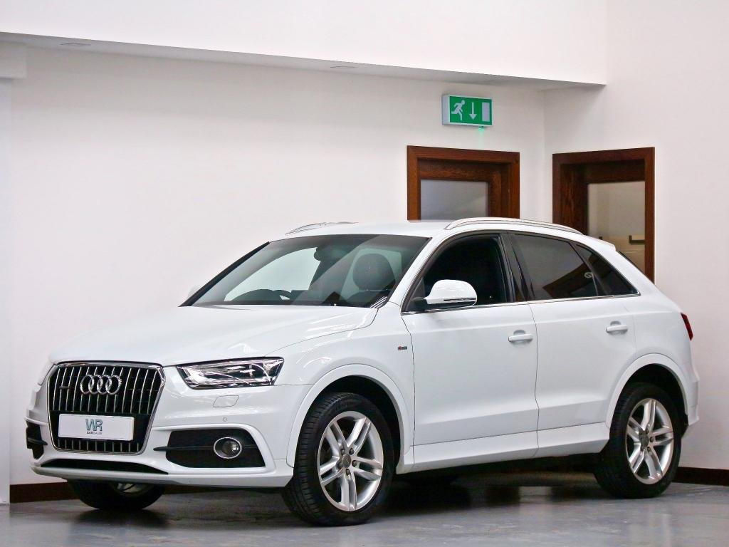 USED 2013 63 AUDI Q3 2.0 TDI S line S Tronic quattro 5dr HEATED & COOLED LEATHER SEATS