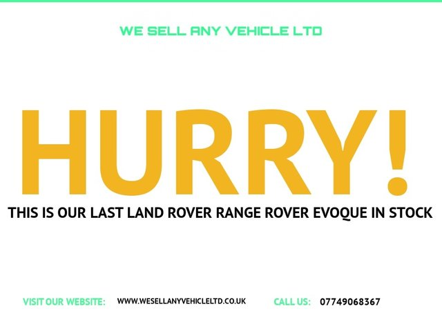USED 2017 17 LAND ROVER RANGE ROVER EVOQUE 2.0 TD4 HSE DYNAMIC 5d VERY GOOD SPEC