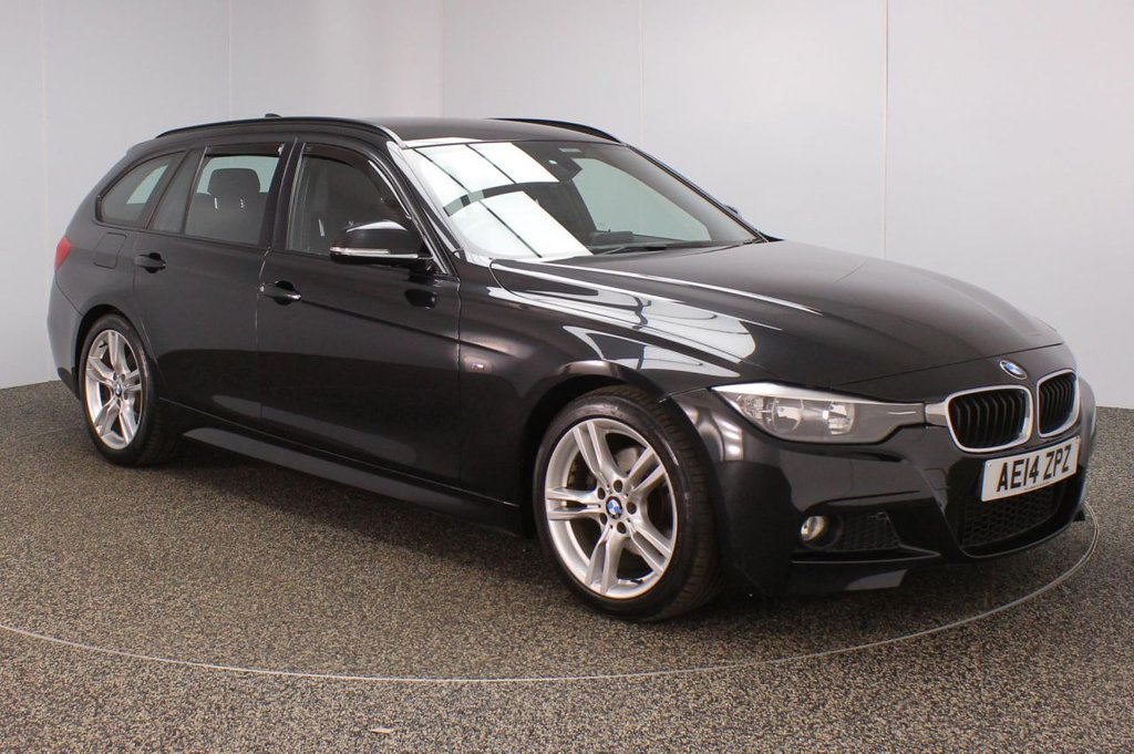 USED 2014 14 BMW 3 SERIES 2.0 320D M SPORT TOURING 5DR 181 BHP FULL BMW SERVICE HISTORY + LEATHER SEATS + PARKING SENSOR + BLUETOOTH + CRUISE CONTROL + CLIMATE CONTROL + MULTI FUNCTION WHEEL + DAB RADIO + ELECTRIC WINDOWS + ELECTRIC MIRRORS + 18 INCH ALLOY WHEELS