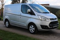 USED 2015 65 FORD TRANSIT CUSTOM 2.2 270 LIMITED LR P/V 124 BHP Limited - NO VAT - Fantastic Condition - Ready to go!