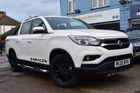 USED 2020 20 SSANGYONG MUSSO SARACEN AUTOMATIC 4d 179 BHP LOAD COVER , STEPS , REAR BARS , TOW PACK , 3.5 TONNE TOW CAPACITY 1 TONNE LOAD CAPCITY 7 YEAR MANUFACTURER WARRANTY 150K MILES
