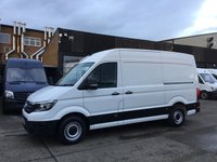 USED 2017 67 VOLKSWAGEN CRAFTER 2.0TDI CR35 MWB HIGH ROOF STARTLINE 140BHP EURO 6. NEW SHAPE. VW WARRANTY 30.10.2020. EURO 6 ULEZ. NEW SHAPE. FINANCE.