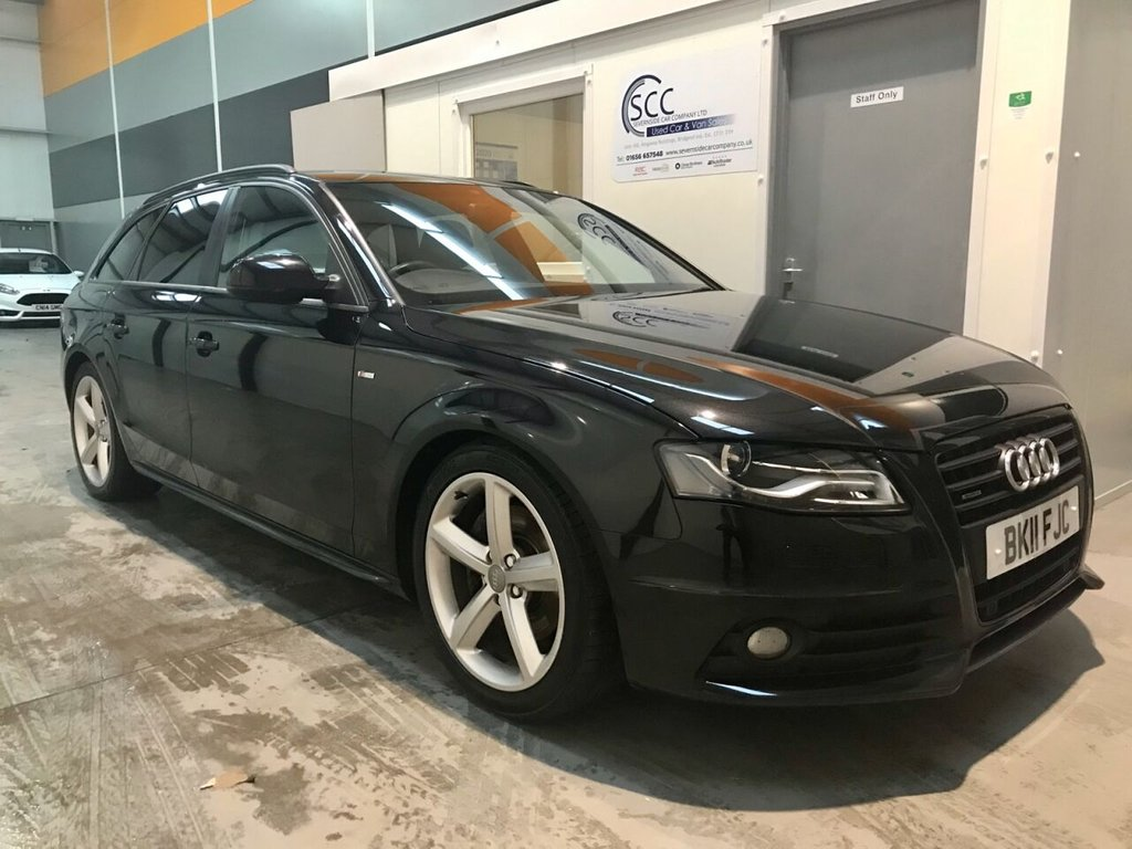 USED 2011 11 AUDI A4 2.0 AVANT TFSI QUATTRO S LINE BLACK EDITION 5d 208 BHP Quattro-S Line-Heated Leather