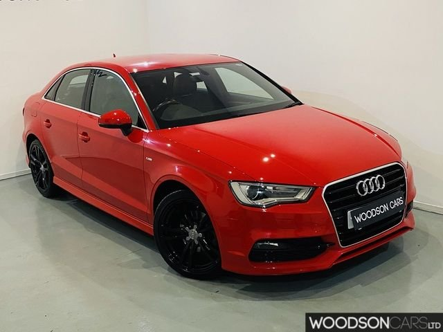 USED 2015 15 AUDI A3 1.6 TDI S LINE 4DR 1 Previous Owner / Black Alloys / Bluetooth
