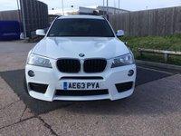 USED 2013 63 BMW X3 2.0 XDRIVE20D M SPORT 5d 181 BHP