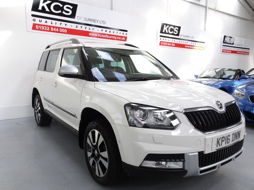 USED 2016 16 SKODA YETI 2.0 OUTDOOR LAURIN AND KLEMENT TDI DSG SCR 5d 148 BHP PAN ROOF / SAT NAV / HTD LETHR