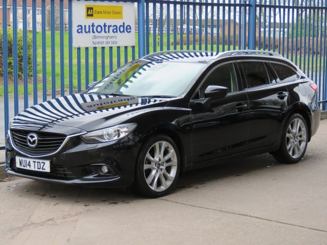 USED 2014 14 MAZDA 6 2.2 D SPORT NAV 5d 173 BHP SAT NAV, REAR CAMERA, HEATED LEATHER SAT NAV, REVERSING CAMERA, FRONT AND REAR PARKING SENSORS, BOSE SPEAKERS, FULL HEATED LEATHER INTERIOR