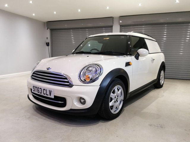 USED 2013 63 MINI CLUBVAN 1.6 COOPER D 110 BHP PEPPER PACK + OVER 72 MPG + AIR CONDITIONING