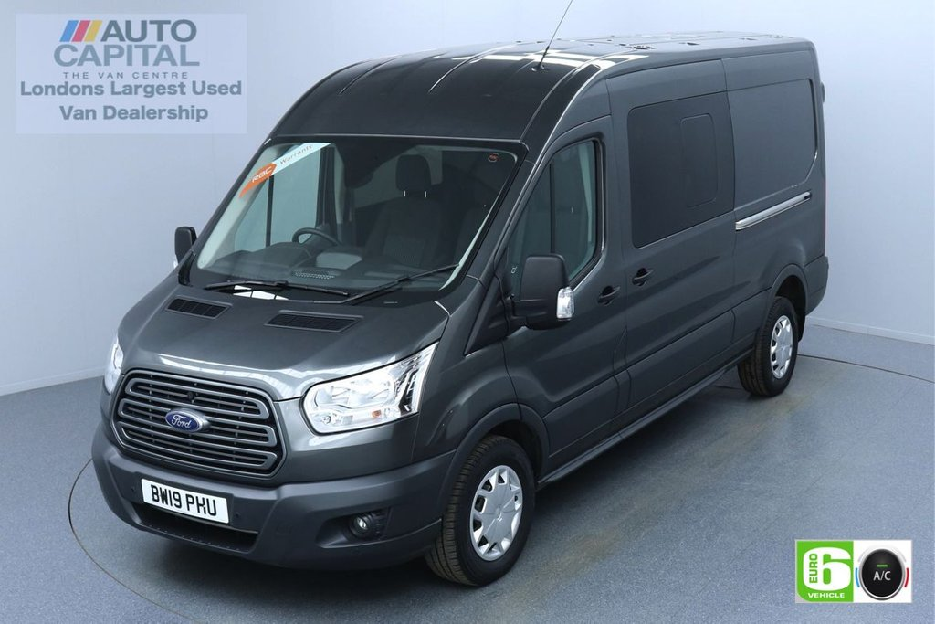 USED 2019 19 FORD TRANSIT 2.0 350 TREND L3 H2 AUTO 130 BHP 6 SEATS COMBI EURO 6 AIR CON | F-R PARKING SENSORS