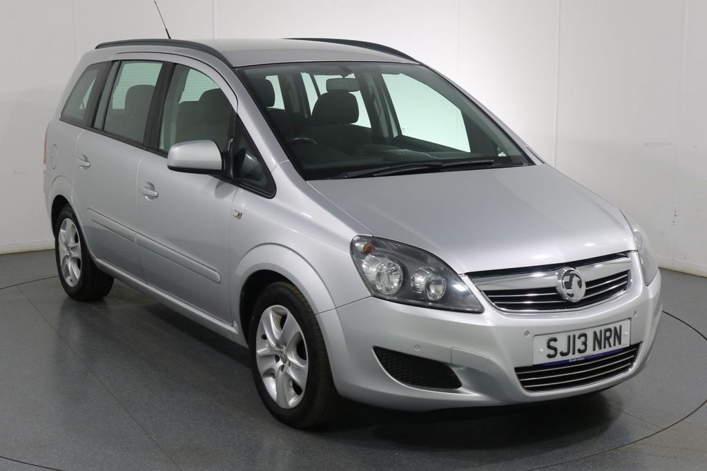 USED 2013 13 VAUXHALL ZAFIRA 1.6 EXCLUSIV 5d 113 BHP ONE OWNER with 4 Stamp SERVICE HISTORY