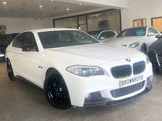 USED 2012 12 BMW 5 SERIES 3.0 535D M SPORT 4d 309 BHP BM PERFORMANCE STYLING+6.9%APR