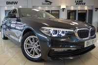 USED 2017 17 BMW 5 SERIES 2.0 520D SE 4d AUTO 188 BHP FINISHED IN STUNNING METALLIC SOPHISTO GREY WITH CANBERRA BEIGE HEATED SEATS WITH ELECTRIC ADJUSTMENT + PROFESSIONAL SATELLITE NAVIGATION + DAB DIGITAL RADIO + BLUETOOTH MEDIA + DUAL ZONE AIR CONDITONING + ACTIVE PEDESTRIAN PROTECTION + COMFORT ACCESS + DIGITAL DASH + AUTO HIGH BEAM ASSIST + PADDLE SHIFT GEARS + SELECTBALE DRIVING MODES + PARK ASSIST FRONT/REAR + BRUSHED CHROME INTERIOR TRIM + APP CONNECT + WIFI CONNECTIVITY + ELECTRIC TAILGATE + AMBIENT LIGHTING + XENONE HEADLIGHTS + 17 INCH SI