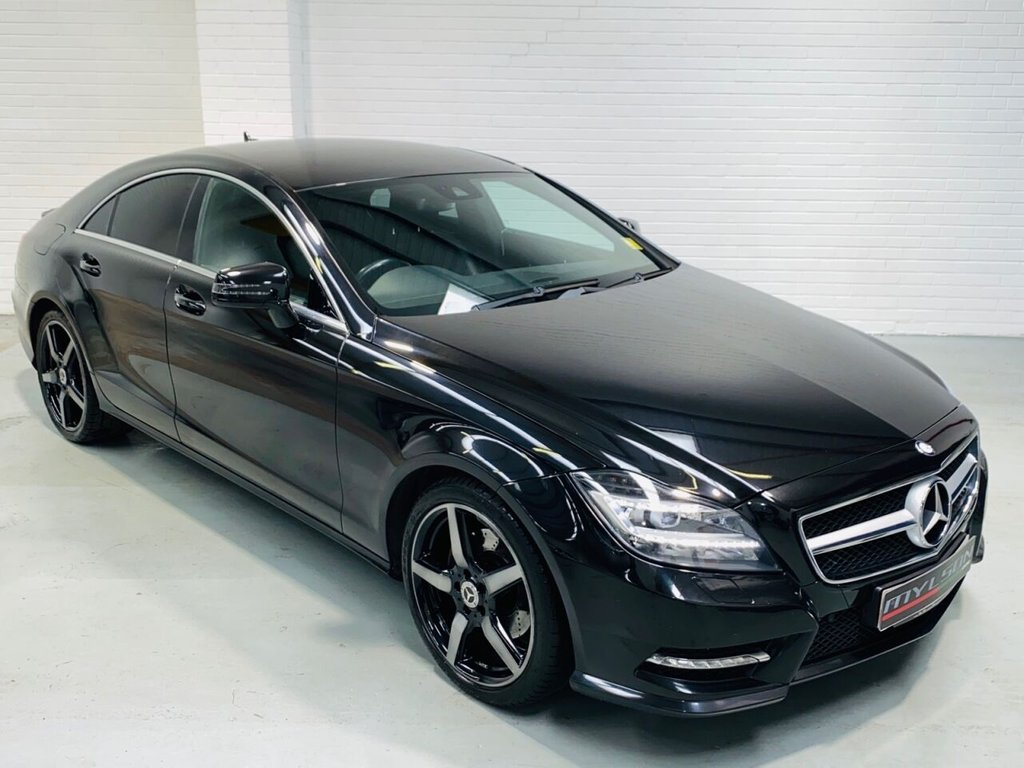 USED 2013 63 MERCEDES-BENZ CLS-CLASS 2.1 CLS250 CDI BLUEEFFICIENCY AMG SPORT 4DR AUTOMATIC AMG Pack, Black with Black Leather Interior, Heated Seats, Bi-Xenon Headlights