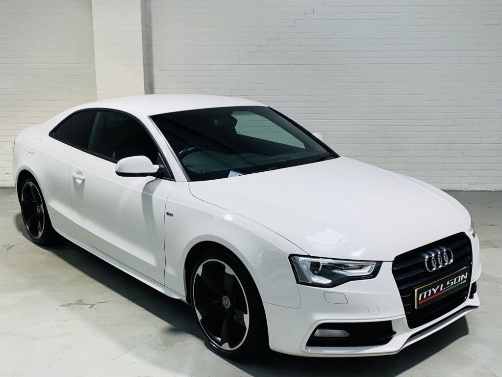 USED 2012 12 AUDI A5 2.0 TDI BLACK EDITION 2DR Black Edition Model, Ibis White with Black Leather Interior, B&O Audio System £30 Road Tax