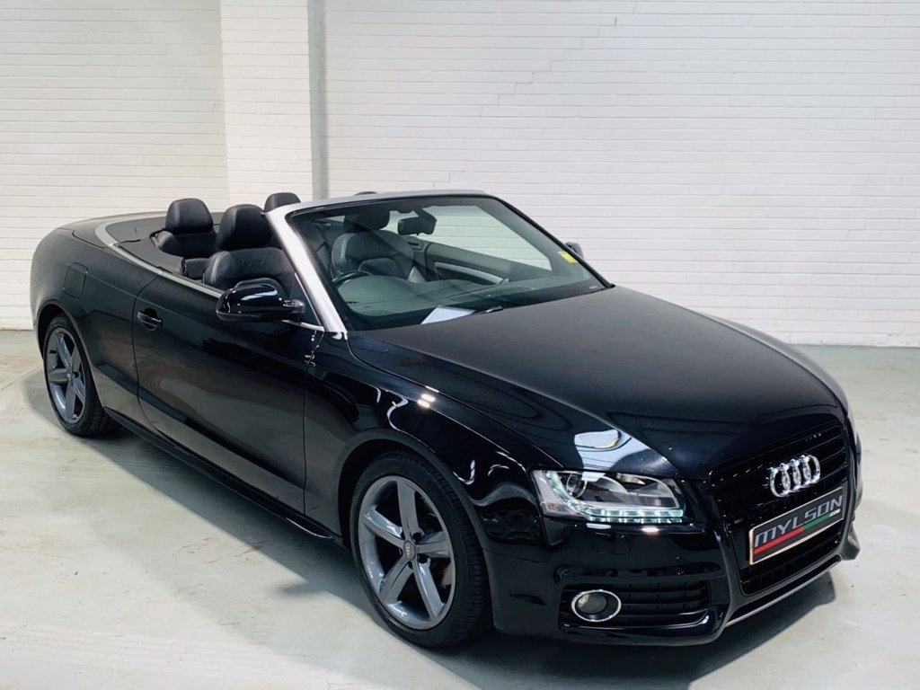 USED 2012 61 AUDI A5 2.0 TDI S LINE 2DR S-Line Spec, Black with Black Leather Interior, Heated Seats, Navigation Plus
