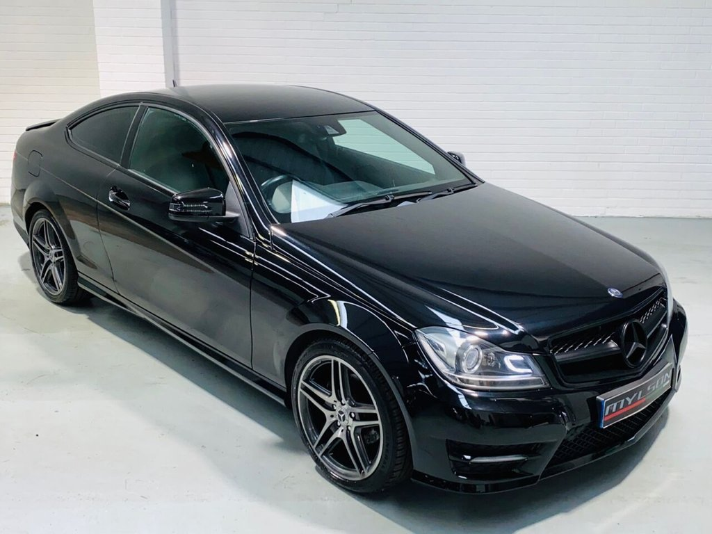 USED 2011 61 MERCEDES-BENZ C-CLASS 2.1 C250 CDI BLUEEFFICIENCY AMG SPORT ED125 2DR AUTOMATIC AMG Pack, Full Black Leather Interior, COMAND Media System, Xenons, Black Styling Pack