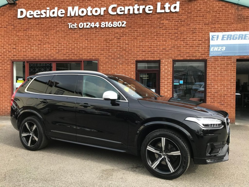 USED 2017 67 VOLVO XC90 2.0 D5 POWERPULSE R-DESIGN AWD 5d 231 BHP Family 7-Seater : Bluetooth : Satellite Navigation system : Wi-Fi : DAB Radio : R-Design leather upholstery : Electric/Heated front seats : Hands-free automatic tailgate : Front + rear parking sensors