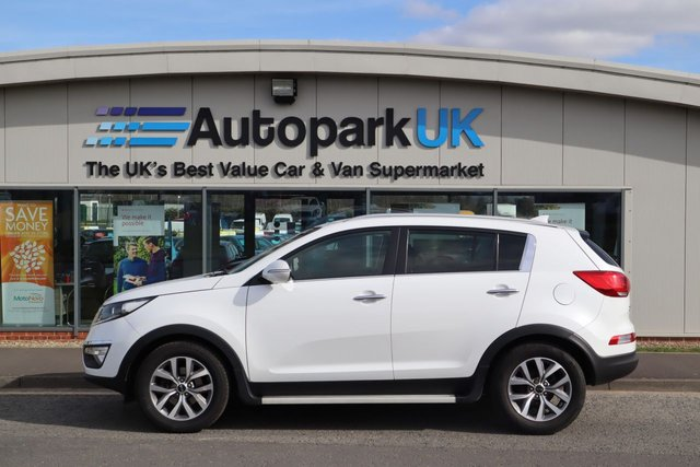 USED 2014 64 KIA SPORTAGE 1.7 CRDI WHITE EDITION ISG 5d 114 BHP LOW DEPOSIT OR NO DEPOSIT FINANCE AVAILABLE