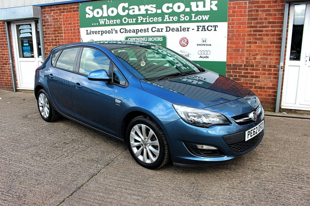 USED 2012 62 VAUXHALL ASTRA 1.4 ACTIVE 5d 98 BHP +BLUETOOTH +HALF LEATHER +FSH.