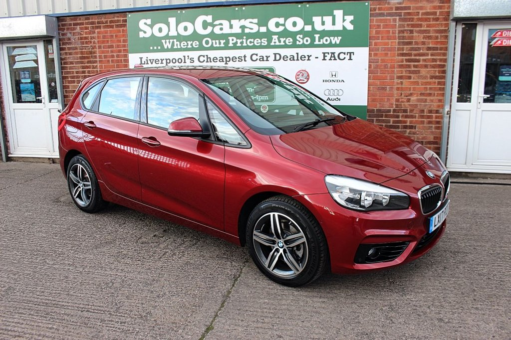 USED 2017 17 BMW 2 SERIES 2.0 218D SPORT ACTIVE TOURER 5d AUTO 148 BHP +AUTOMATIC +LOW TAX +SAT NAV.