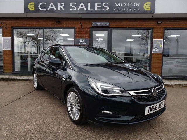 USED 2016 66 VAUXHALL ASTRA 1.6 ELITE NAV CDTI S/S 5d 134 BHP £20 ROAD TAX, 1 LADY OWNER, FULL LEATHER, SAT NAV, BLUETOOTH, HEATED SEATS, 5 STAR RATED DEALERSHIP, ALL CARS COME WITH OUR CARE PLAN