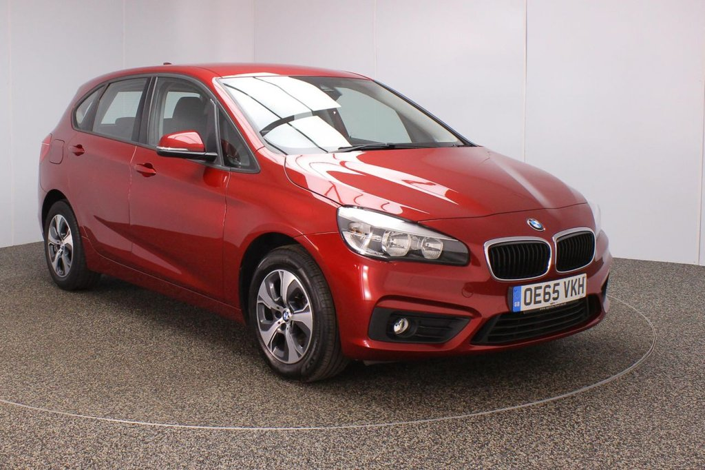 USED 2016 65 BMW 2 SERIES ACTIVE TOURER 2.0 218D SE ACTIVE TOURER 5DR 1 OWNER 148 BHP Finished in a stunning Flamenco metallic red styled with 16'' alloys. Upon entry you are presented with full service history, satellite navigation, bluetooth, cruise control, parking sensors, lumbar support, performance control, DAB radio, automatic air conditioning, CD player, rain sensor