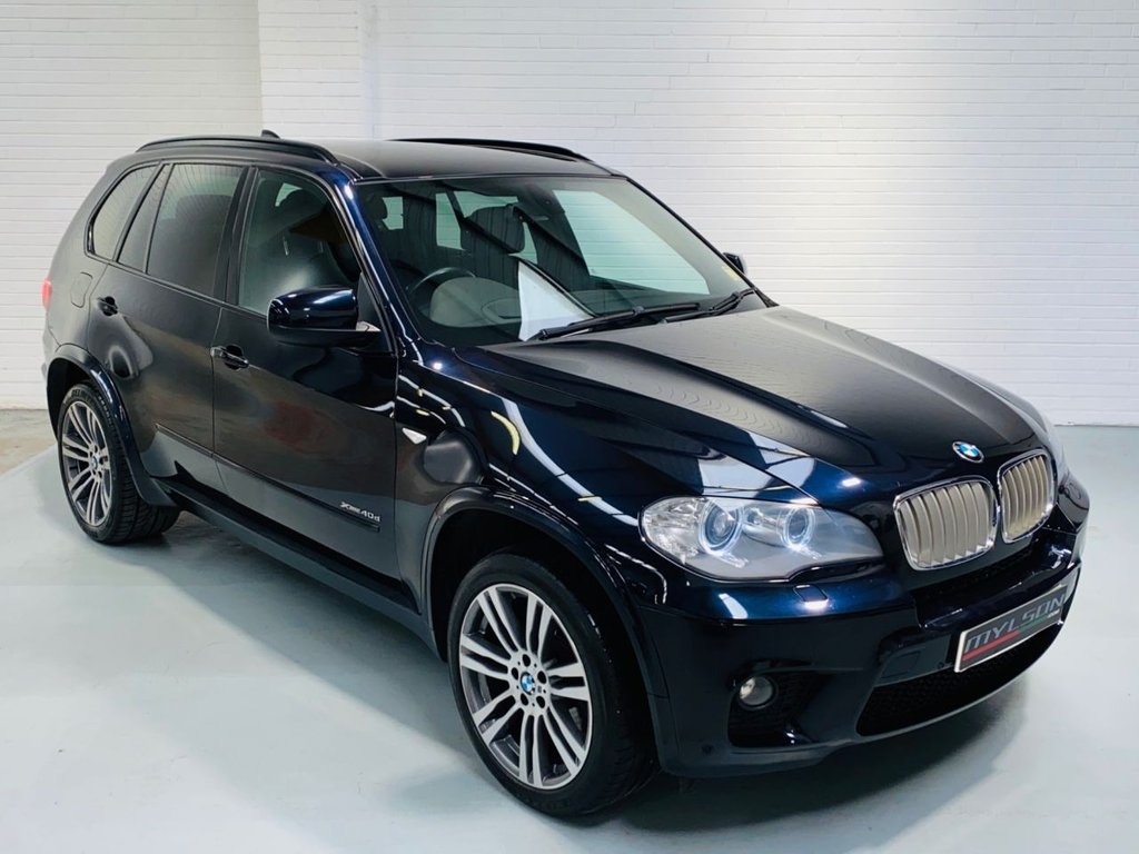 USED 2010 60 BMW X5 3.0 XDRIVE40D M SPORT 5DR AUTOMATIC Facelift Model, Carbon Black with Black Leather Interior, Head Up Display, 20in Wheels