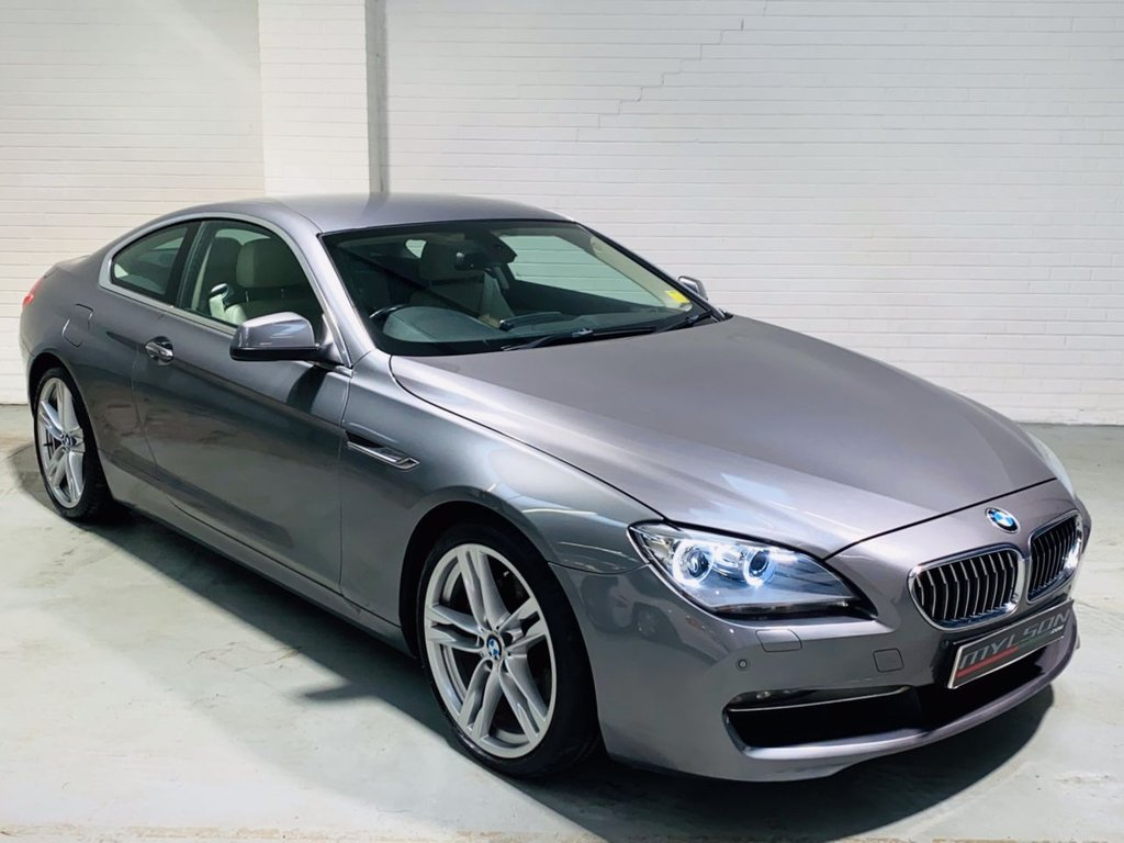 USED 2012 12 BMW 6 SERIES 3.0 640D SE 2DR AUTOMATIC 20in M Sport Wheels, Widescreen Nav/Media System, Cream Leather Interior, Heated Seats