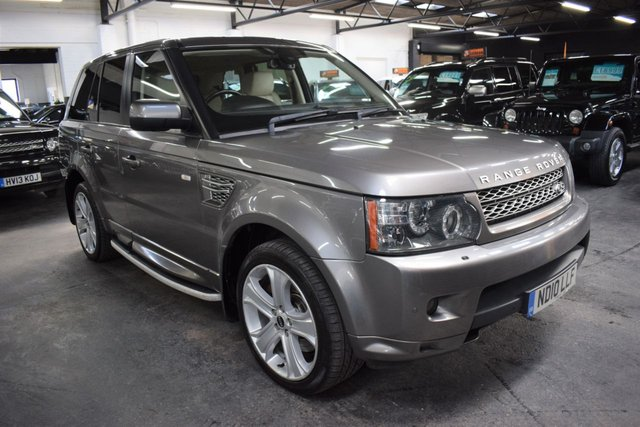 USED 2010 10 LAND ROVER RANGE ROVER SPORT 3.6 TDV8 SPORT HSE 5d 269 BHP STUNNING CONDITION - FACELIFT 3.6 TDV8 HSE - IVORY LEATHER - FACTORY REAR DVD SCREENS - SIDE STEPS - 20 INCH LUX ALLOYS