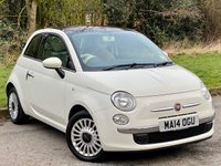 USED 2014 14 FIAT 500 1.2 LOUNGE 3d 69 BHP FULL 128 POINT INSPECTION BY THE AA