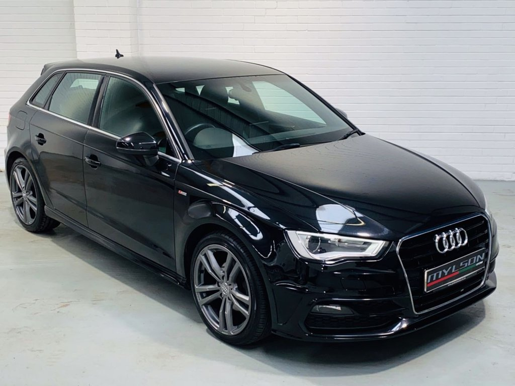 USED 2013 63 AUDI A3 1.6 TDI S LINE 5DR S-Line Spec, Sat Nav, Cruise Control, Leather, Zero Road Tax, 6 Months Warranty