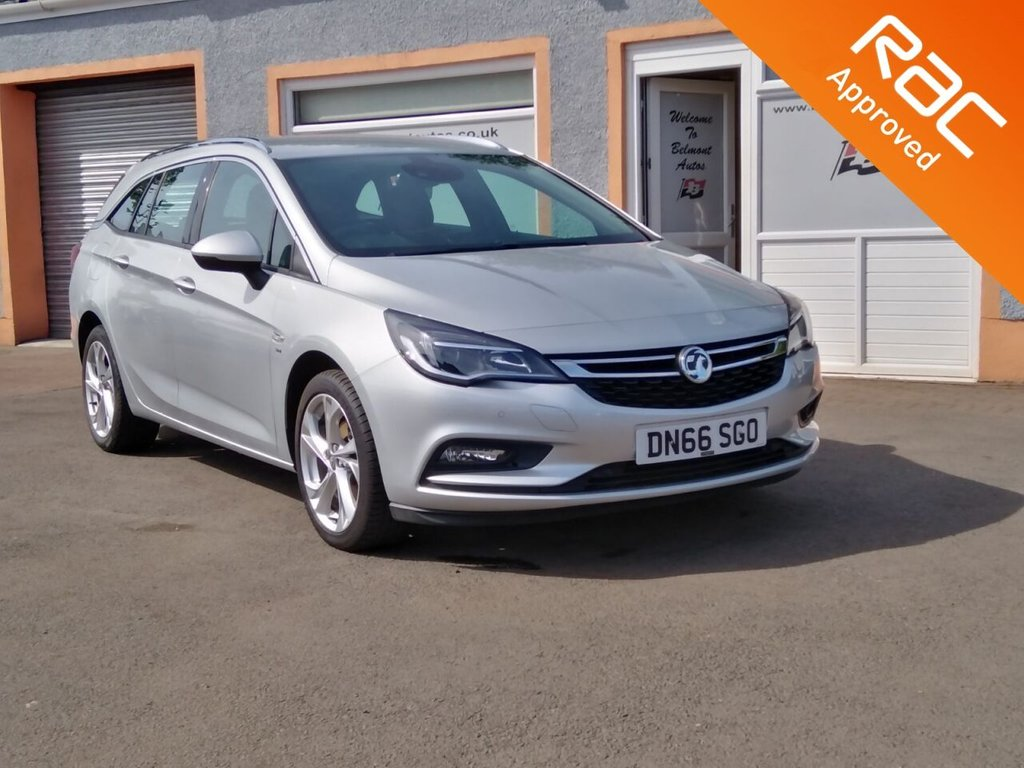"USED 2017 66 VAUXHALL ASTRA 1.4 SRI NAV 5d 148 BHP Rear Privacy Glass, 3 Main Dealer Service Stamps, Sat Nav, Cruise Control, Lane Departure Warning, 17"" 10 Spoke Alloys"