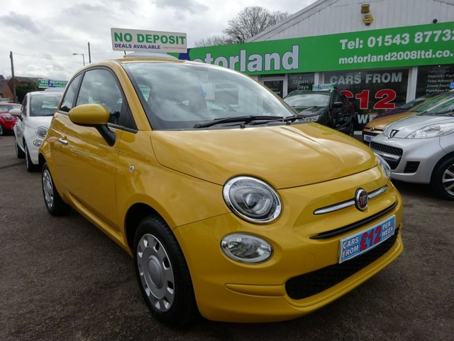 USED 2016 66 FIAT 500 1.2 POP 3d 69 BHP **  JUST ARRIVED ** CALL 01543 877320**