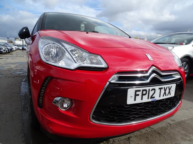 USED 2012 12 CITROEN DS3 1.6 DSTYLE PLUS 3d 120 BHP VERY CLEAN CAR