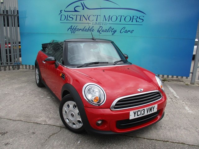 USED 2014 13 MINI CONVERTIBLE 1.6 ONE 2d 98 BHP