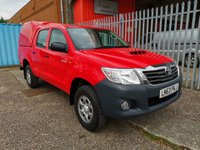 2013 TOYOTA HI-LUX 2.5 D-4D HL2 4x4 Double Cab Pickup 144 *AIR CON*LOW MILES* £11500.00