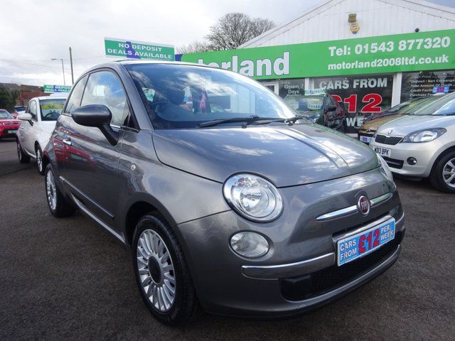 USED 2011 11 FIAT 500 1.2 LOUNGE 3d 69 BHP **  JUST ARRIVED ** CALL 01543 877320**
