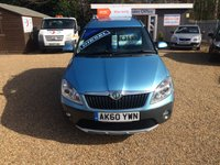 USED 2010 60 SKODA ROOMSTER 1.6 SCOUT TDI CR 5d 103 BHP 130 POINT INSPECTION - FINANCE AVAILABLE