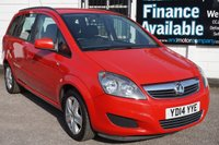 USED 2014 14 VAUXHALL ZAFIRA 1.8 EXCLUSIV 5d 120 BHP 2 Owners Vauxhall + 1 Private, 4 Vauxhall Service Stamp