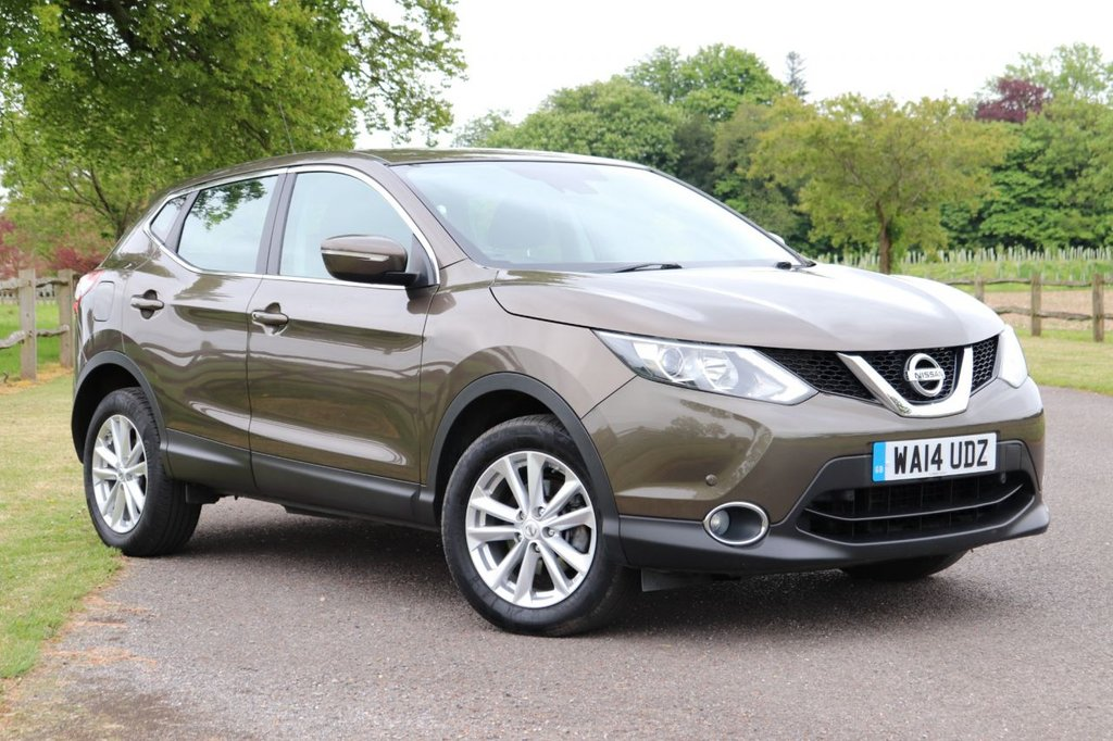 USED 2014 14 NISSAN QASHQAI 1.5 DCI ACENTA SMART VISION 5d 108 BHP Parking Aid +Cruise +Bluetooth