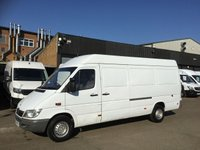 USED 2003 53 MERCEDES-BENZ SPRINTER 2.2 311CDI LWB HIGH ROOF 109BHP. LAST OWNER FOR 10 YEARS. LAST OWNER FOR 10 YEARS. STRAIGHT VAN. PX WELCOME