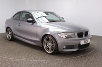 USED 2012 62 BMW 1 SERIES 2.0 118D SPORT PLUS EDITION 2DR LOW MILEAGE 141 BHP Finished in a stunning space metallic grey styled with 18'' alloys. Upon entry you are presented with full black leather interior, bluetooth, cruise control, heated sport seats, parking sensors, light package, sports edition, anthracite headlining, rain sensors, sun protection glass, aux/usb media, electric door mirrors